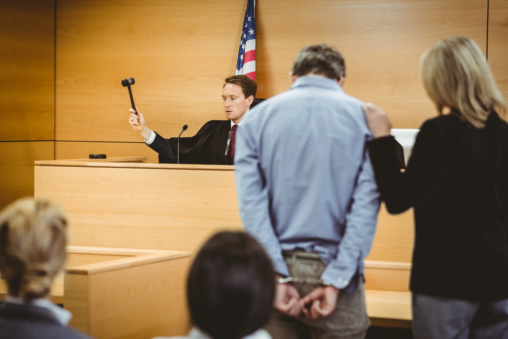 man in courtroom