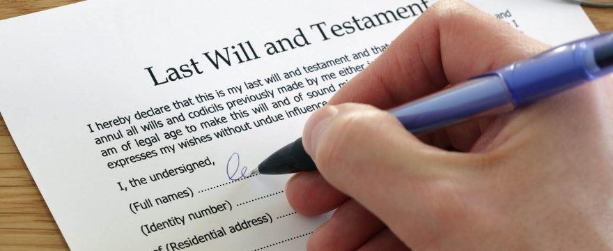 firmar testamento