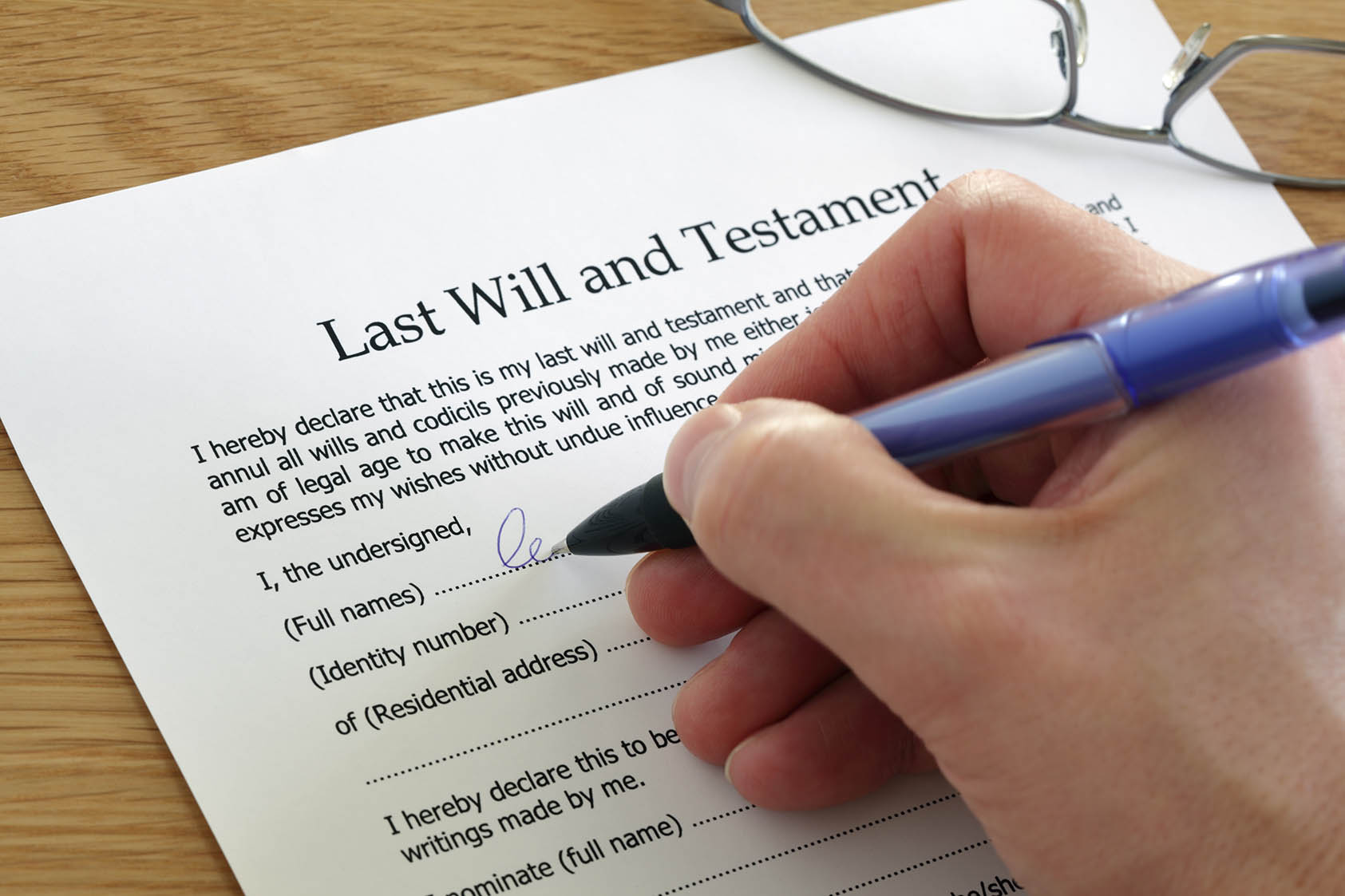 firmar testamento ante un notario